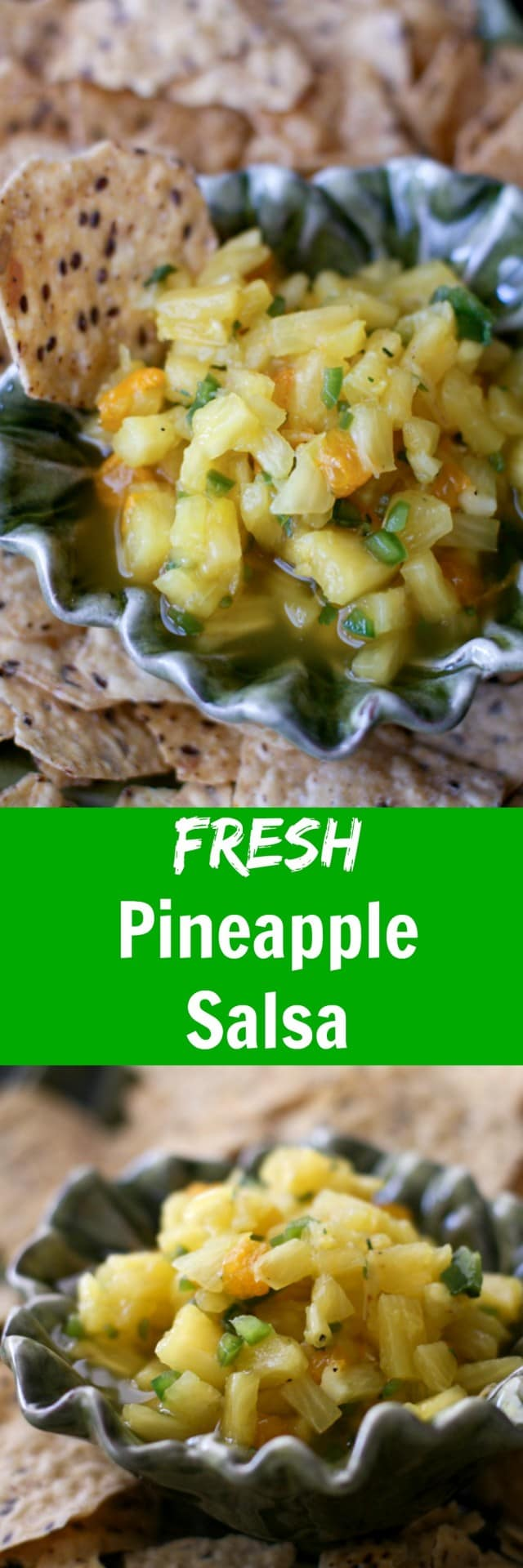 Brighten up your chips & salsa spread with this Fresh Pineapple Salsa! Great over grilled chicken or fish too. Recipe via aggieskitchen.com