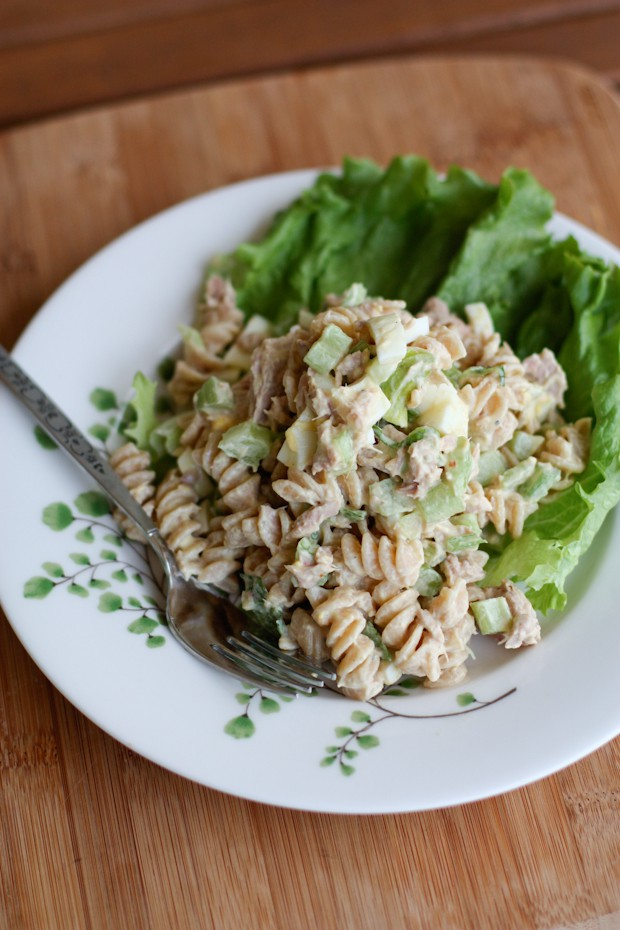 Creamy Tuna Pasta Salad with Greek Yogurt | Aggie's Kitchen