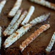 Perfectly Baked Italian Herb Fries | Aggie's Kitchen