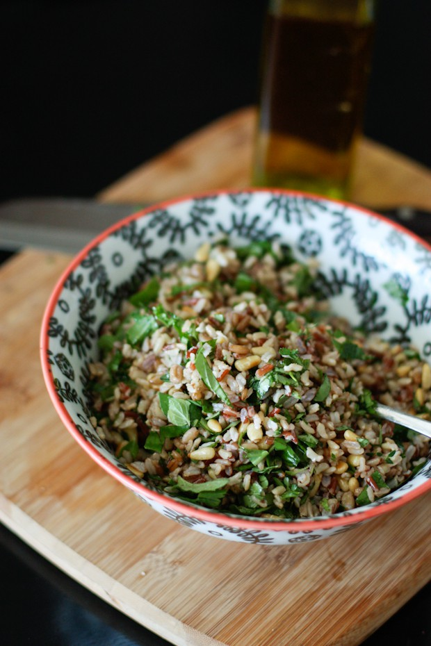 Herbed Wild Rice Salad with Toasted Pine Nuts | Aggie's Kitchen