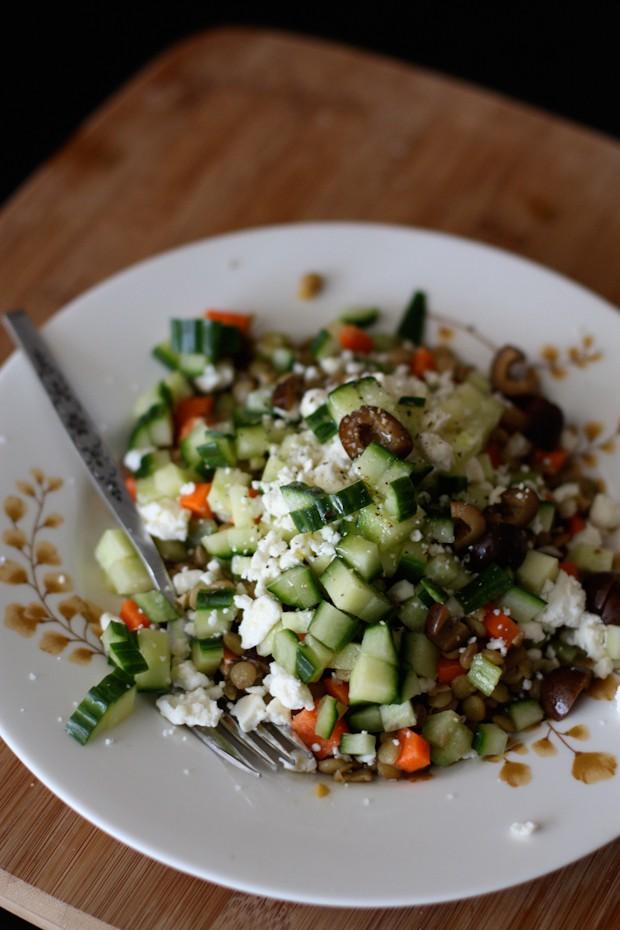 Mediterranean Lentil Salad - Vegetarian Recipe