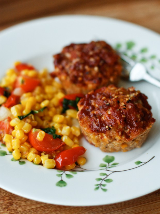 Mini Cheddar BBQ Turkey Meatloaf Muffins | Aggie's Kitchen