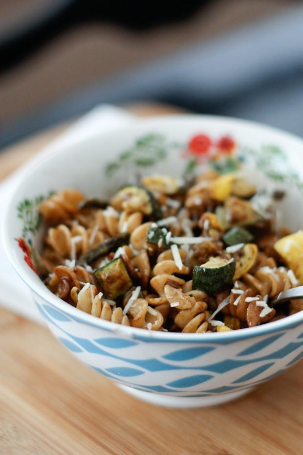 Roasted Vegetable Whole Wheat Pasta Salad | Aggie's Kitchen