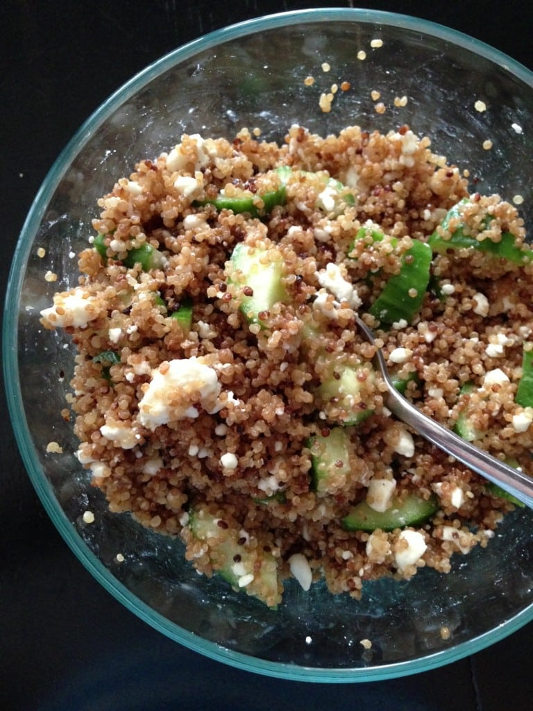 Cool Cucumber and Quinoa Salad | Aggie's Kitchen