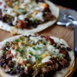 Mexican Black Bean Pizza | AggiesKitchen.com #beans #pizza #dinner #mexican