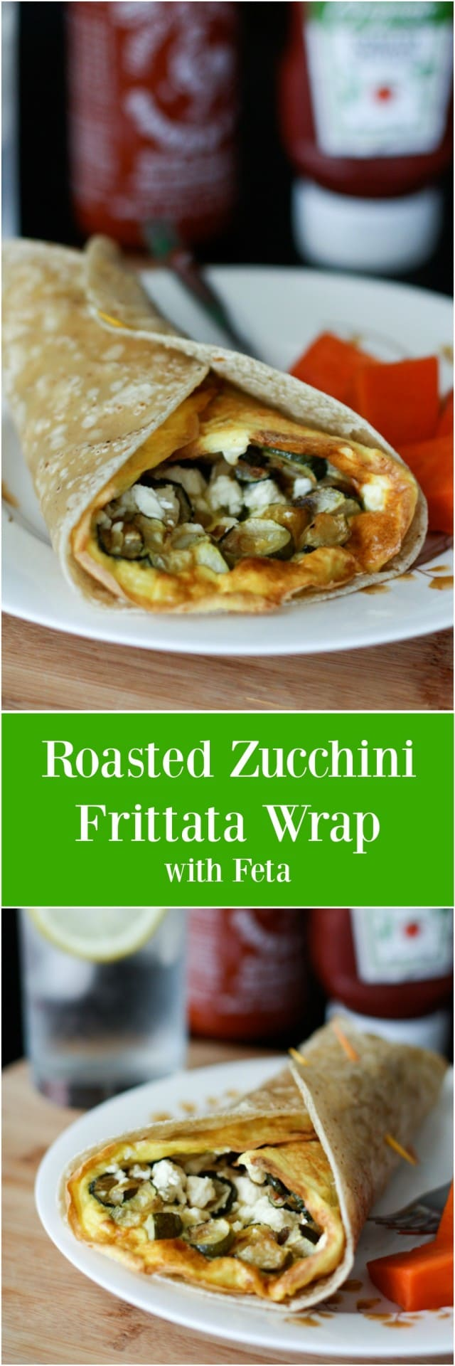 Use up your leftover roasted vegetable in frittatas for an easy meal. This Roasted Zucchini Frittata Wrap is a hearty and healthy vegetarian lunch or dinner!