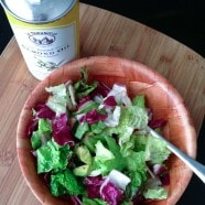 Salad Of The Week: Greens, Avocado and Radishes with Roasted Almond Oil   Aggie's Kitchen #salad #healthy #vegetarian #avocado