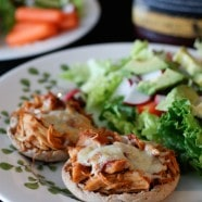 Slow Cooker Barbecue Chicken Melts | AggiesKitchen.com #chicken #slowcooker #crockpot