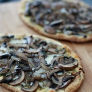 Grilled Portabella Mushroom Pesto Flatbreads | AggiesKitchen.com #grill #mushrooms #vegetarian #pizza #appetizer