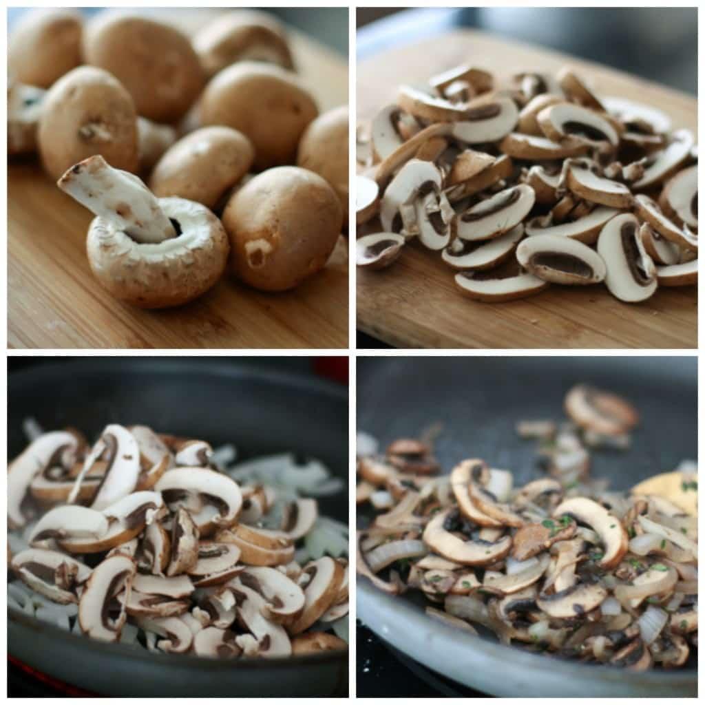 Grilled Portabella Mushroom Pesto Flatbreads   AggiesKitchen.com #grill #mushrooms #vegetarian #pizza #appetizer