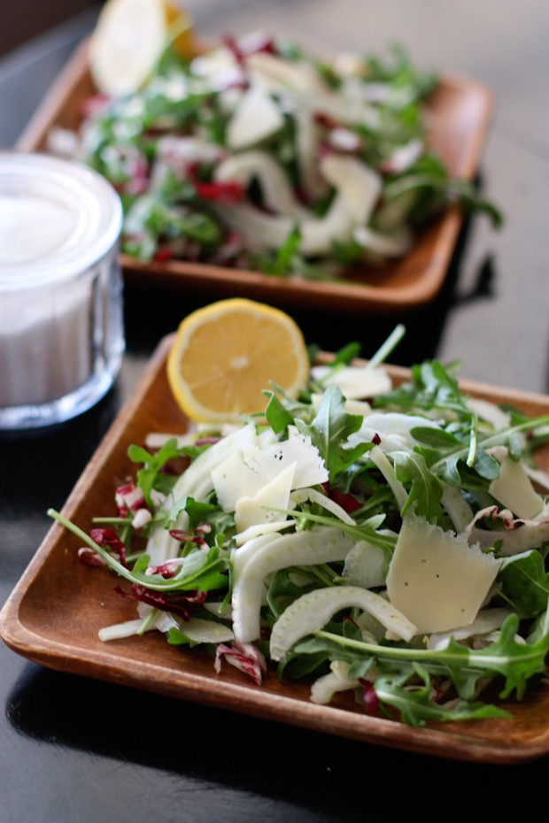 Shaved Fennel and Arugula Salad | AggiesKitchen.com  #salad #healthy #summer