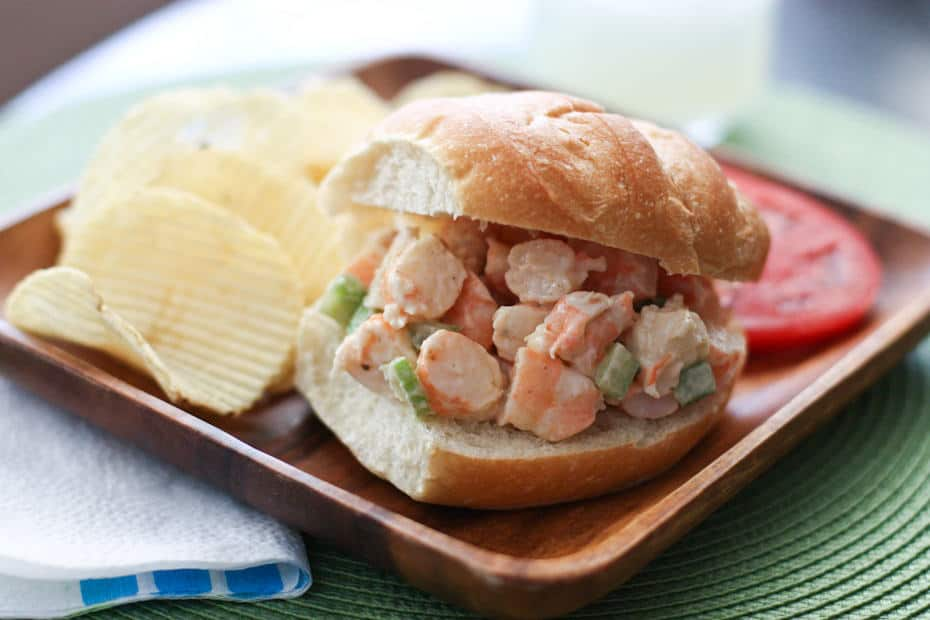 This Shrimp Salad recipe is one my favorite ways to enjoy shrimp, especially in the summer. Makes a great shrimp salad sandwich or addition to any salad.