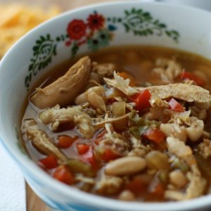 Slow Cooker Chicken and White Bean Soup with Quinoa | AggiesKitchen.com #crockpot #slowcooker #chicken #soup