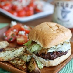 Grilled barbecue bison burgers are a leaner alternative to the hamburger - juicy and flavorful with less guilt!