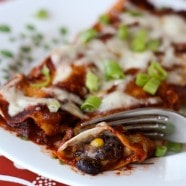 Cheesy Black Bean and Corn Enchiladas | AggiesKitchen.com #mexican #blackbeans #beans #meatless #vegetarian #recipe
