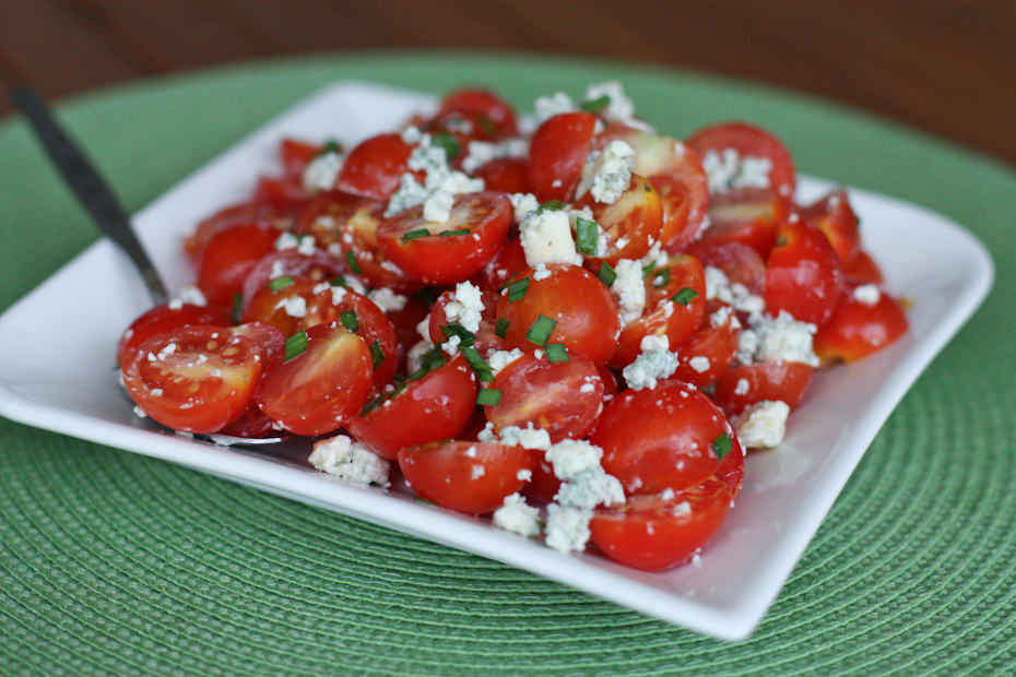 Cherry Tomato and Blue Cheese Salad Recipe | AggiesKitchen.com #tomatoes #summer #picnic #salad