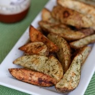 Roasted Dill Potato Wedges | AggiesKitchen.com #potatoes #sidedish #vegetable #potato
