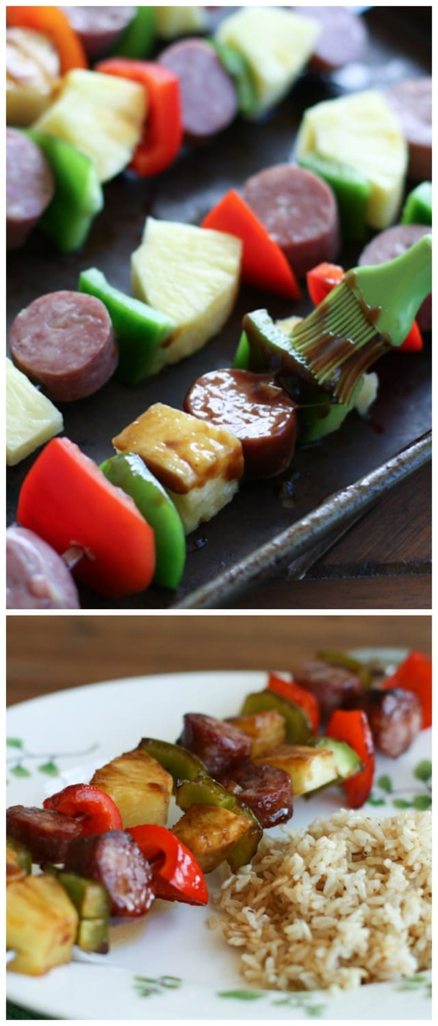 Simple Aloha Kebabs - just 6 ingredients!