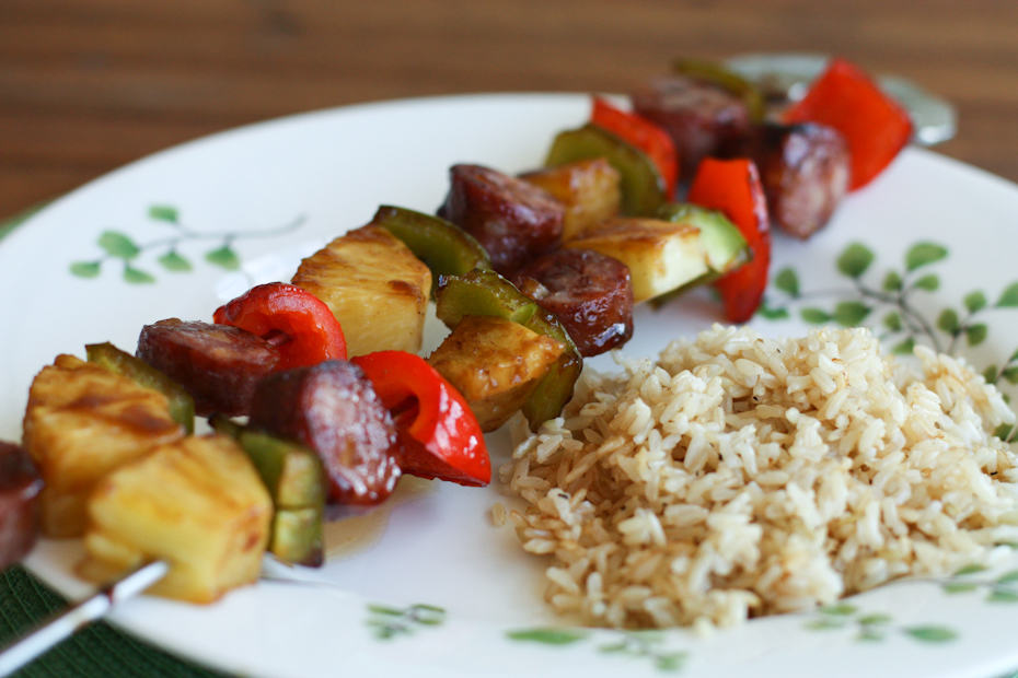 Aloha Kebabs with Sesame Rice | AggiesKitchen.com