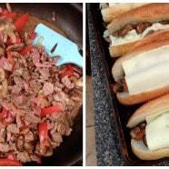 Easy Cheesesteak Sandwiches | AggiesKitchen.com #dinner #recipe #beef #sandwiches
