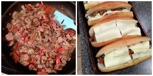 Easy Cheesesteak Sandwiches | AggiesKitchen.com #dinner #recipe #beef #sandwiches