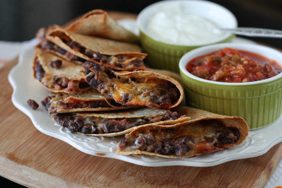 Chicken, Black Bean, Avocado And Cheese Quesadillas Recipes ...