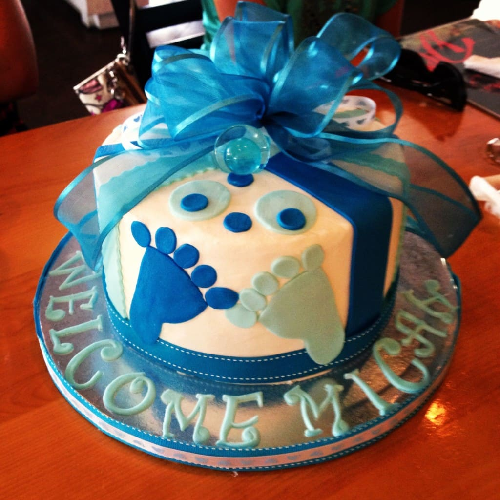 Welcome Micah Baby Cake