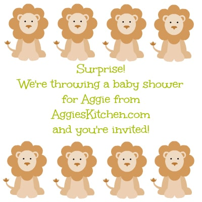 aggie virtual baby shower