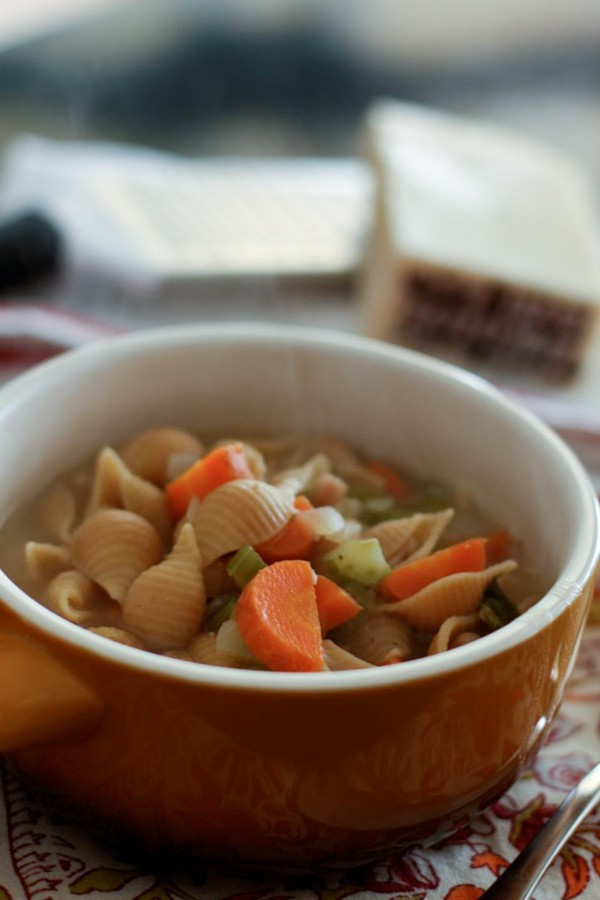 Shell Pasta and Bean Soup