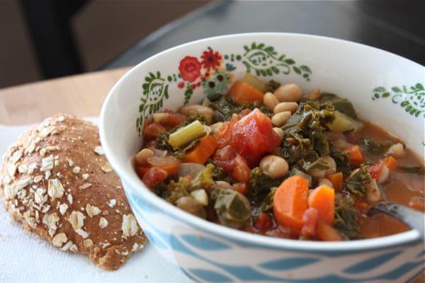 Kale Tomato and White Bean Soup