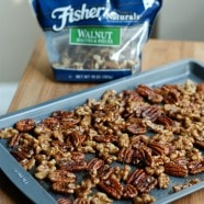Gingerbread Spiced Nuts | www.aggieskitchen.com