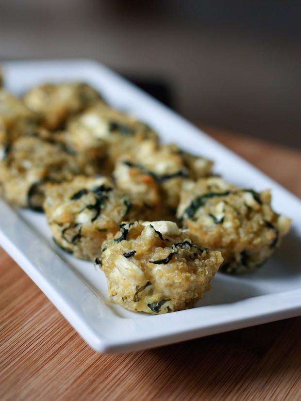 Spinach and Feta Quinoa Bites   www.aggieskitchen.com