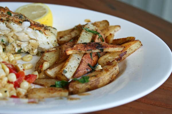 Baked Old Bay Fries | AggiesKitchen.com