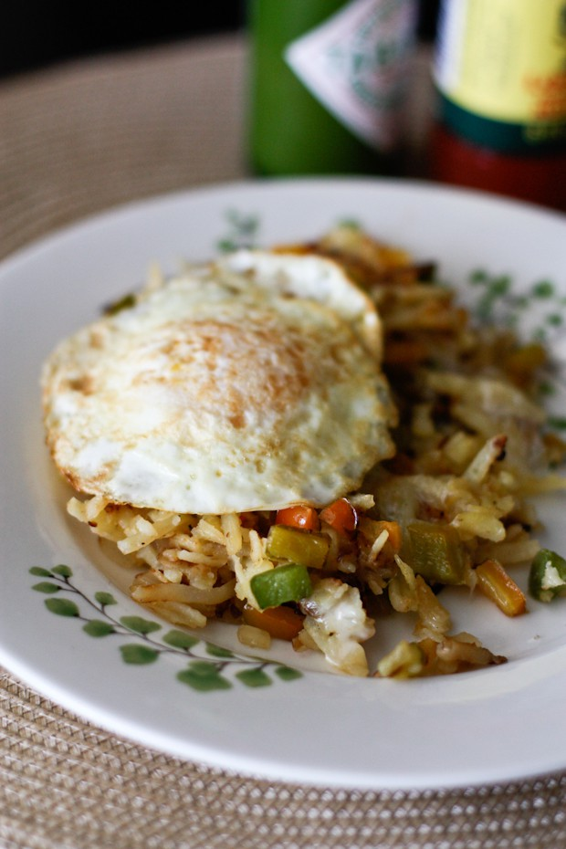 Cheesy Pepper and Onion Hashbrowns | AggiesKitchen.com
