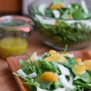 Spinach and Arugula Citrus Salad with Fennel and Avocado | www.aggieskitchen.com
