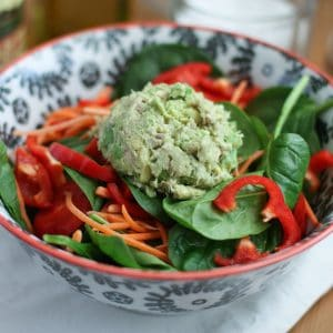 Avocado-Tuna Spinach Salad | AggiesKitchen.com