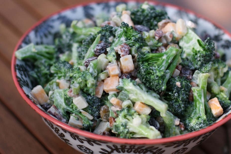 Lightened Up Broccoli Salad | AggiesKitchen.com