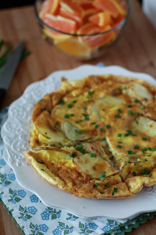 Parmesan Potato Frittata | AggiesKitchen.com