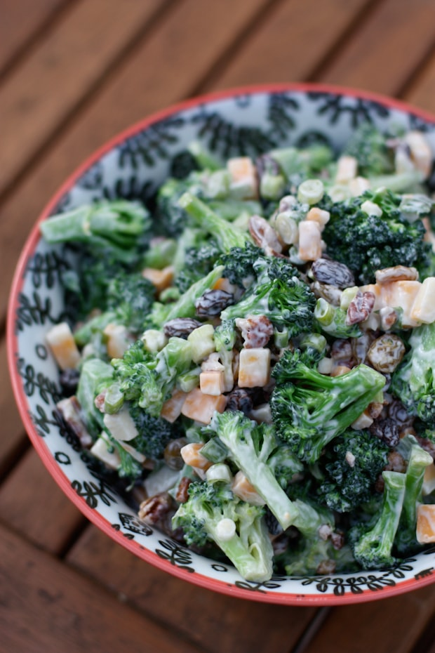 Lightened Up Broccoli Salad   AggiesKitchen.com