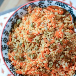 Carrot Raisin Quinoa Salad