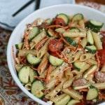 Garden Pasta Salad with Chicken Sausage   Aggie