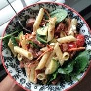 Garden Pasta Salad with Chicken Sausage | Aggie's KItchen
