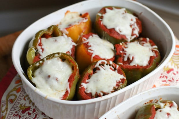 Bison and Brown Rice Stuffed Peppers | Aggie's Kitchen