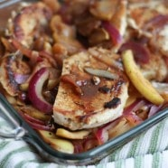 Hard Cider Pork Chops with Apples and Onions | Aggie's Kitchen