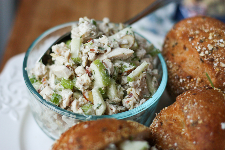 Autumn Rotisserie Chicken Salad with Almonds and Apples