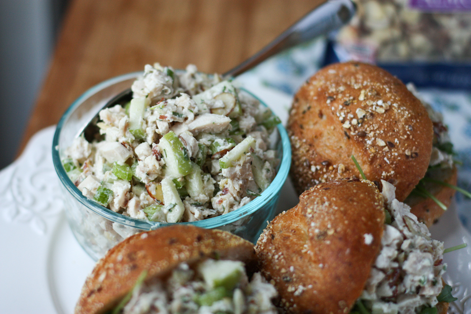 Rotisserie Chicken Salad With Apples And Almonds
