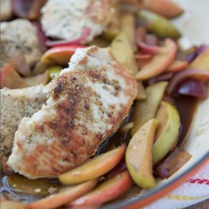 hard cider pork chops with apples
