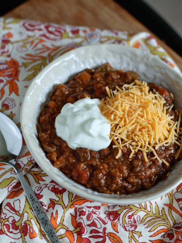Vegetarian Quinoa Lentil Chili