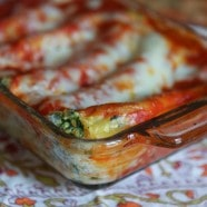 Butternut Squash and Spinach Manicotti