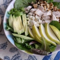 Chicken, Pear and Avocado Salad